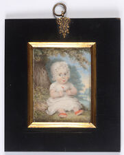 """""""Robert William Johnson at the age of 17 months"""", English (American?) miniature"""