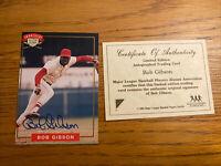 Bob Gibson Nabisco All Star Legends Auto 1994 Cardinals HoF Rip