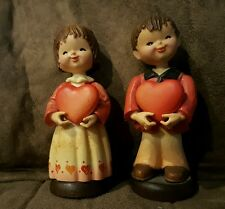 Anri Figurines- Valentines Day Couple Hearts Love Boy Girl