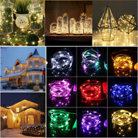 Christmas LED String Copper Wire Fairy Light Battery Xmas Party Fairy Lamp Decor