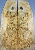 Birds-eye Spalted Maple Wood Burl Luthier Supply Electric Guitar Drop Top Veneer