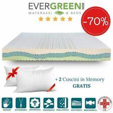 EVERGREENWEB ✅ Materasso Matrimoniale 170x200 a 7 Zone + Cuscini GRATIS 🎁