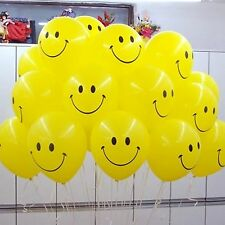36 PCs Round Balloon Smiley Face Balloons Design Party Latex Balloons Pack uk