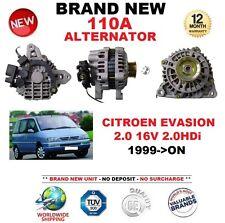 Para Citroen Evasión 2.0 16 V 2.0HDi 1999-ON nuevo 110 A Alternador ** Calidad OE **