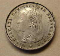 1897-- NETHERLANDS 25 Cent Silver Coin----free shiop