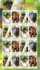 Gambia 2016 MNH Temminck's Red Colobus WWF 16v M/S Monkeys Wild Animals Stamps