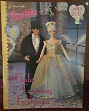 Golden Books 1998 Barbie Gala Evening Fashions paperdoll uncut
