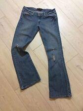 Original Jeans Levis 524 Damas envejecido Rasgada Talla US7 Reino Unido Mediano L31 Fab!