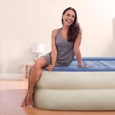 "Queen Air Mattress 18"" Raised Pillow Aerobed Intex Dura Beam Inflatable Bed"