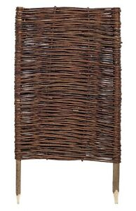 Handwoven Willow Wicker Hurdle Fence Panels