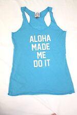 New Aloha Made Me Do It Ammdi Women's Racerback Tank Top Blue Size Medium