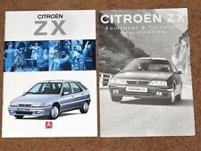 1994 CITROEN ZX Sales Brochure & Specs - 16V Volcane Furio Aura Avantage Reflex