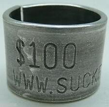 2 X $100 REWARD DUCK leg band bands goose funny! hunt  Sucker Band