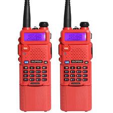 2 X BaoFeng UV-5R Dual UHF/VHF Radio Transceiver + 3800mah Battery Walkie Tlakie