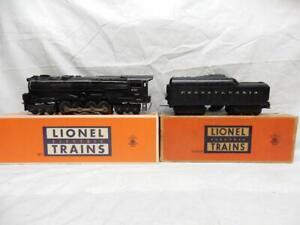 POSTWAR LIONEL 681 PRR S2 STEAM TURBINE & 2671W TENDER, C-7 EX, RUNS FINE, NO RS