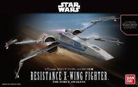 Star Wars Plastic Model Kit 1/72 RESISTANCE X-WING FIGHTER Bandai Japan NEW **