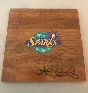 Alana Beard signed LA Los Angeles Sparks Logo Floorboard Floor autographed WNBA
