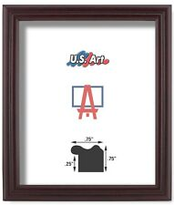 """Us Art Frames .75"""" Cherry Matte finish Real Poplar Solid Wood Picture Frame"""