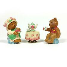 Hallmark Merry Miniatures 1996 Mary's Bears Tea Time 3 Piece Set Trio Lot