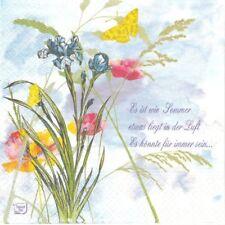 2 Serviettes en papier Fleur iris Coquelicot Paper Napkins Summer Feeling