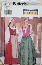 Butterick Sewing Pattern Skirt & Top Renaissance 12-16 Wench Costume 6196 LARP
