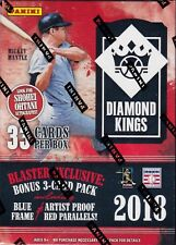 2018 Diamond Kings Baseball sealed blaster box 6 packs of 5 MLB cards & bonus pk