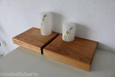 2xWandboard Kirschbaum Massiv Holz Board Regal Steckboard Regalbrett NEU auf Maß