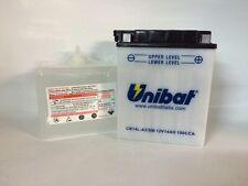 CB14L-A2/SM  BATTERIA MOTO UNIBAT 14 AH 190 A (EN) - COD. YUASA YB14L-A2