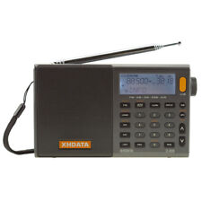 XHDATA D-808 Digital Portable Radio FM SW MW LW SSB AIR RDS LCD Play Clock Radio