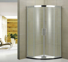 Quadrant Shower Enclosure Tall Walk In Cubicle Glass Door Stone Tray+Free Waste