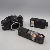 Vintage Nikon Camera Parts or Repair Lot EM 35mm SB-E Flash MD-11 Winder