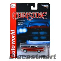 AUTOWORLD AWSS6401 CHRISTINE 1958 58 PLYMOUTH FURY 1:64 NIGHT VERSION MODEL RED