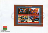 Madagascar 2018 FDC Superman 4v M/S Cover DC Comics Superheroes Stamps