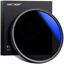 K&F Concept 37/40.5/43/46/49/52/55mm Variable ND Camera Lens Filter ND2-ND400