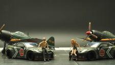 Diorama Use FigureWorkShop Figure 1/64 2pcs set #FWSA164024 Zero Fighter
