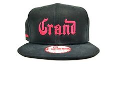 New Era Grand Marnier Mens Black Adjustable Hat With Magenta Writing