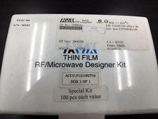 AVX Thin Film,RF/Microwave Designer Kit, Surface Mount 1210, 15 different values