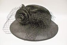 Vintage Women's Hat Church Kentucky Derby Wedding Black