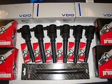 GENUINE VDO FORD FALCON BA BF XR6 + TURBO 6c 6 IGNITION COILS & SPARK PLUGS.,..