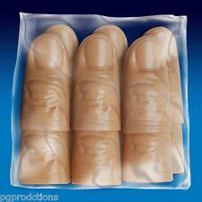 12 Pack SOFT THUMB TIPS RUBBER Vinyl Finger Fake Magic Trick Magician Tip Lot