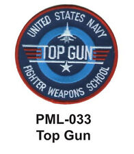 """TOP GUN Embroidered Military Large Patch, 4"""""""