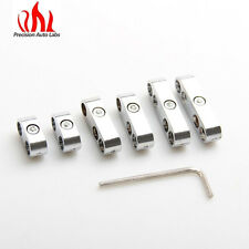 Universal Chrome Spark Plug Wire Loom Set / Dividers / Separators 7,8, 8.8, 9mm