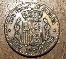 TRES BELLE PIECE DE 10 CENTIMOS 1879 OM (141) RARE DANS CET ÉTAT !