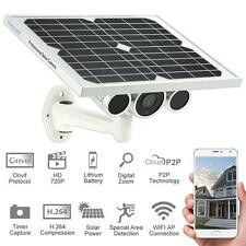 Solar Power Panel WiFi IP Camera P2P Wireless Network Outdoor Security EU M5S6