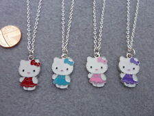 hello kitty Bright Blue Poke-a-Dot Fairy charm pendant  necklace