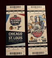 2017 Winter Classic & Alumni Game Mega Ticket St. Louis Blues Chicago Blackhawks