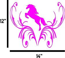 """TRIBAL DESIGN WITH HORSE 14"""" X 12"""" VINYL DECAL GRAPHIC HOOD SIDE CAR TRUCK"""