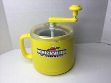 DONVIER Premier 1 Quart Yellow Hand Crank Complete Ice Cream Maker