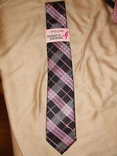 NWT Knots for Hope Susan G. Komen Men's Tie 19MNW10261 BLACK & Pink Plaid $40