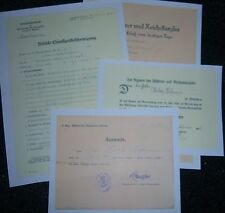 GERMAN - Selection of 4 Documents for One Man. EK II Vets, etc. Highly Decorated